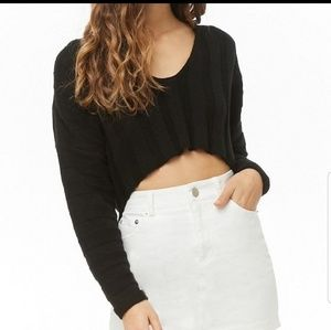 High to low cropped sweater